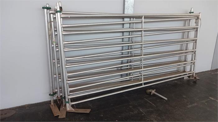56 weidepanels aluminium l nge 3m h he 1 6m 5 tore. Black Bedroom Furniture Sets. Home Design Ideas