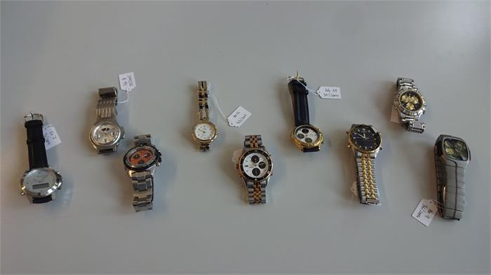 1 sort diverse armbanduhren ca 9 stck objektdetail. Black Bedroom Furniture Sets. Home Design Ideas